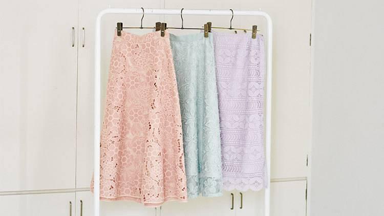 あなたはどの色を選ぶ?「華やかレーススカート」真似したくなる3つのお手本コーデ❤︎