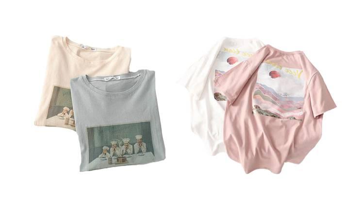 おうちコーデにぴったり♡ 甘カジュアルな「デザインTシャツ」5選