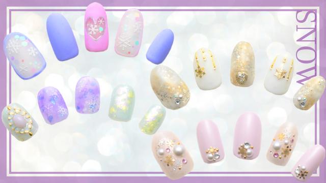 指先に粉雪のように輝くラメや、雪の結晶を♡ネイルデザイン10選【スノーネイル編】