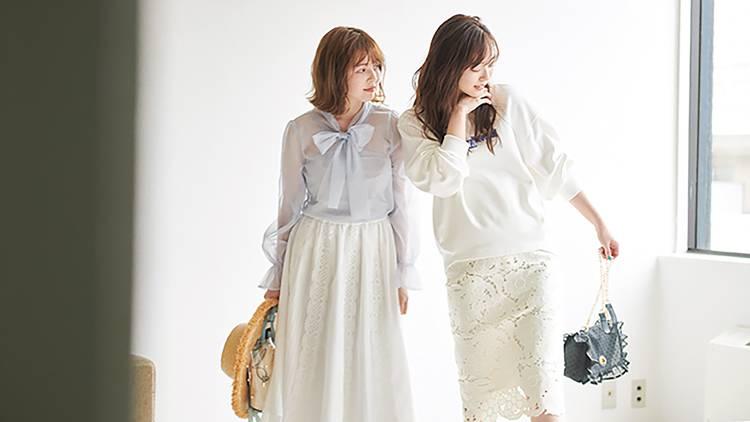 春一番に買うならコレ♡ 美人度を上げる「レーススカート」14選