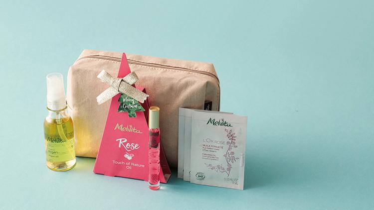 【プレゼントつき】「Melvita」の贅沢オイルのクリスマスコフレ