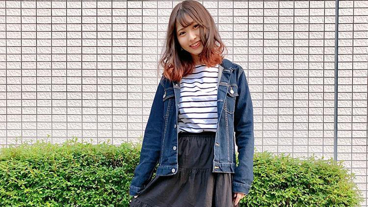 【早稲田生】【青学生】の美人女子大生が着てたのはGジャン&スキニーだった!