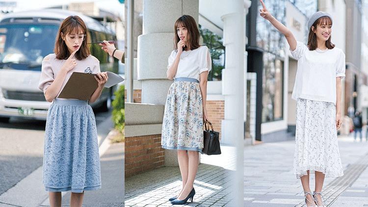 「大人っぽく魅せたい」を叶える♡ 上品で可愛い花柄スカートコーデ3選