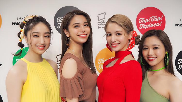 【ミスドのタピオカ乾杯式】E-girls佐藤晴美、楓、坂東希、山口乃々華にインタビュー