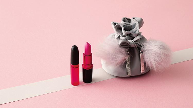 【プレゼントつき】「M・A・C」のネオンピンクルージュ&香水の女っぽコフレ❤