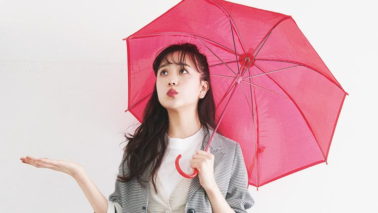 雨の日だってご機嫌に♡ジャケット×ジャンスカコーデ【明日のコーデ】