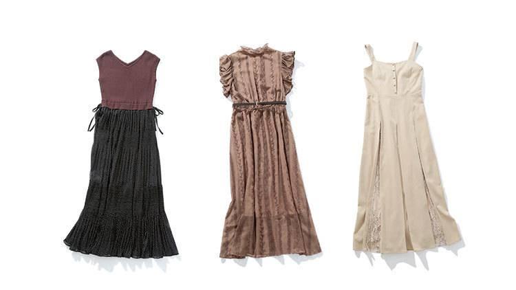 メンズに「キレイ系女子」って褒められる♡ 今買って秋まで着れる「秋色ワンピ」5選