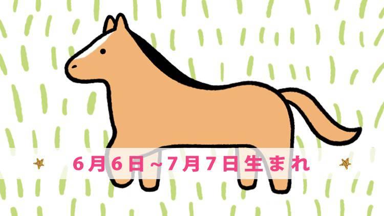 今月の守護動物占い【ウマ】(6月6日~7月7日生まれ)の愛と運勢