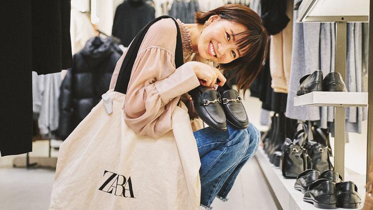 【ZARAで3万円分購入】どれだけ買えるのか?岡崎紗絵がリアル調査!