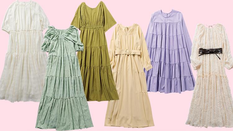 楽ちんおしゃれな春服が欲しい♡ 今季マストバイな《ティアードワンピース》6選