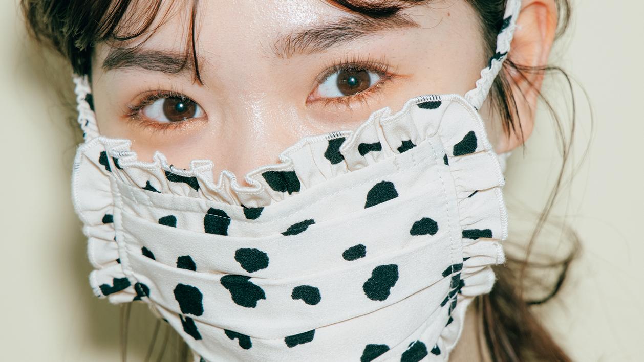 ダルメシアン柄マスクにはトレンドメイクを♡映えを狙える【テラコッタ】囲みアイの作り方