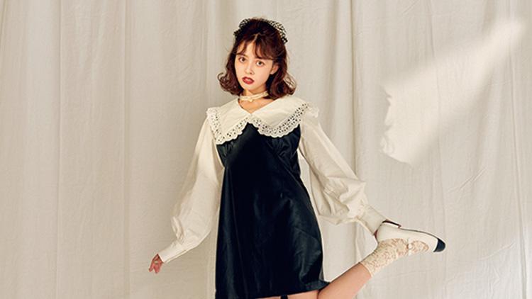 この秋、レトロスタイルが可愛すぎ!女子ウケ「ミニ丈ワンピコーデ」3選♡